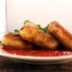 Cheddar Cornmeal Cakes Side