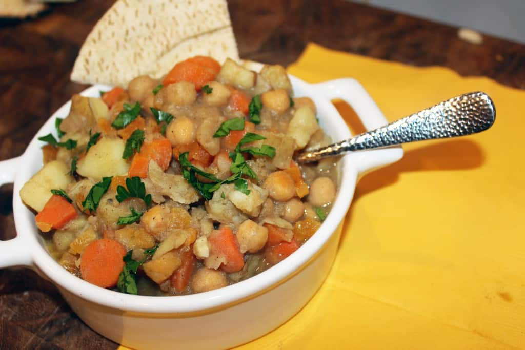 Moroccan Chickpea and Root Vegetable Stew