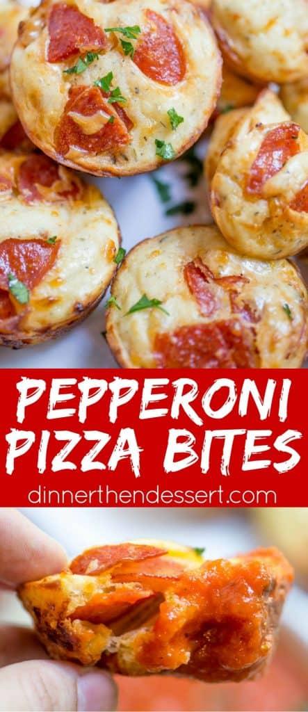 Pepperoni Pizza Bites Dinner Then Dessert