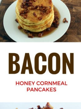 A sweet and savory pancake topped with crispy bacon. They taste like the softest, fluffiest cornbread you've ever had.