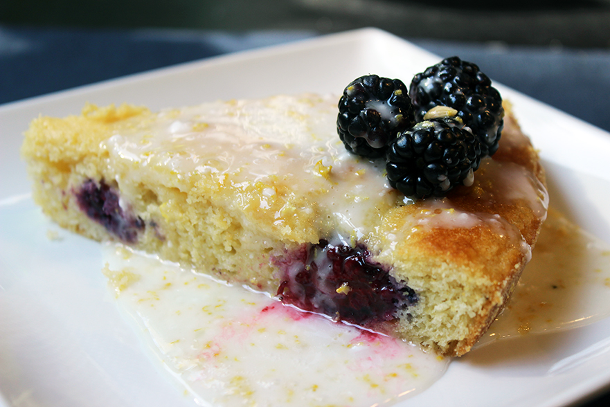 Blackberry Lemon Cornmeal Cake