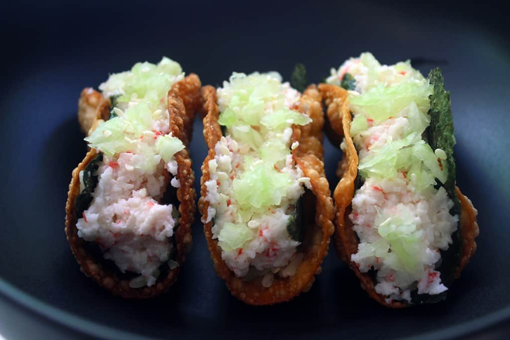 California Roll Taco Front