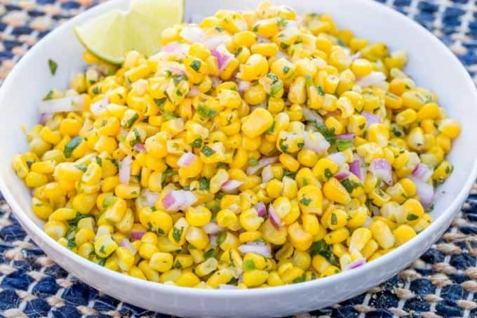 Chipotle Corn Salsa is so healthy and easy, we love it!