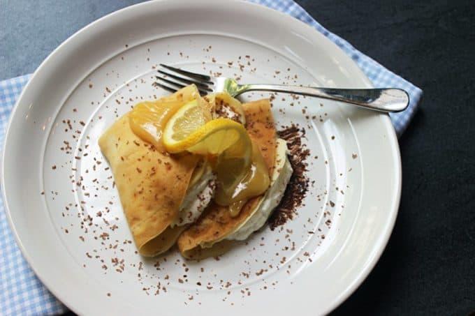 Chocolate Lemon Crepes