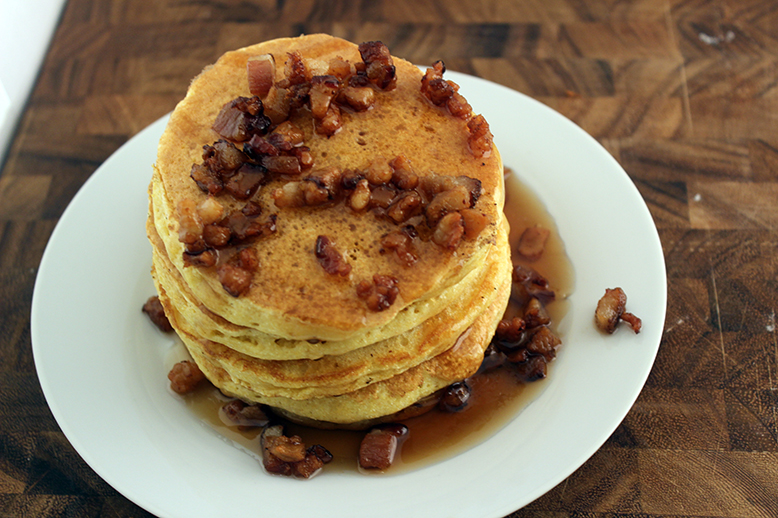 Cornmeal pancake top