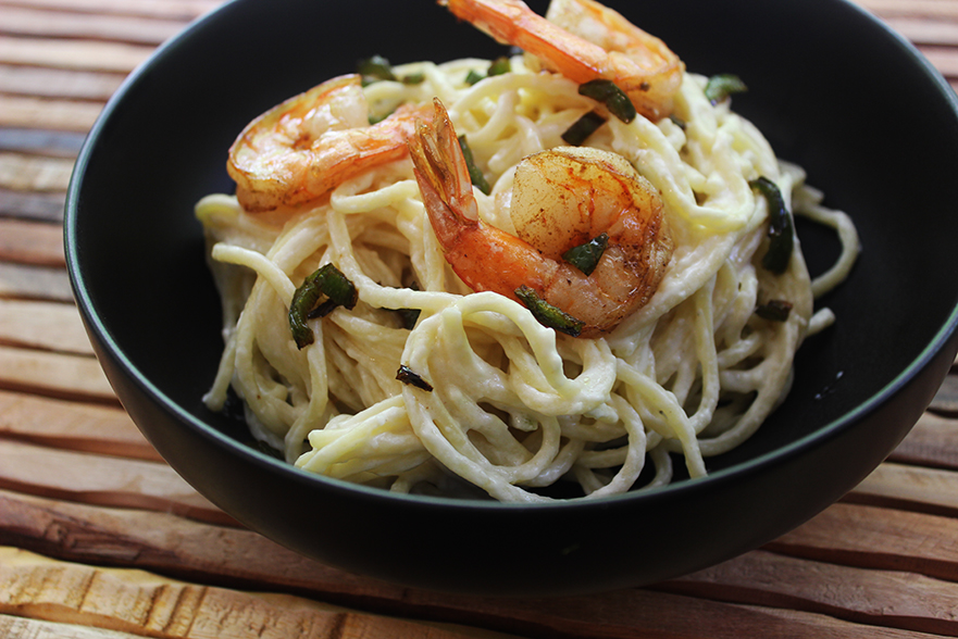 Creamy Jalapeno Alfredo Shrimp