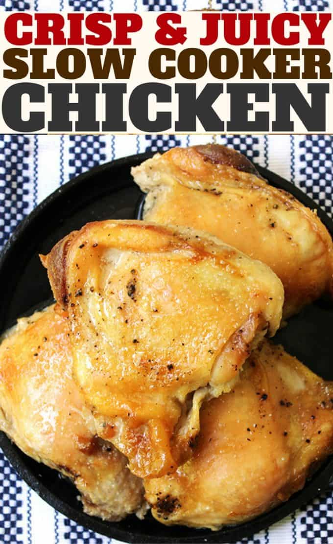 The method for CRISPY Slow Cooker Chicken! So EASY!