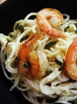 A rich, spicy, creamy shrimp pasta for nights when you are looking for something special but quick and easy.