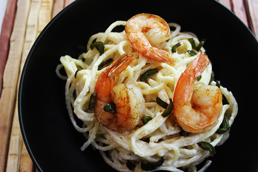 Jalapeno Shrimp Cream Pasta
