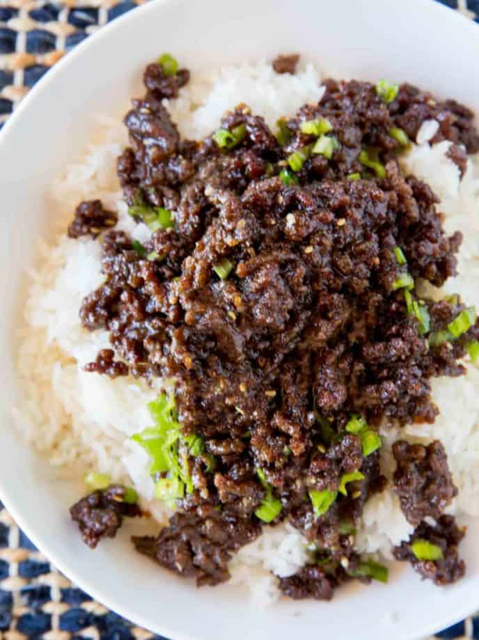 The easiest, least expensive version of takeout you can make at home and with ground beef!