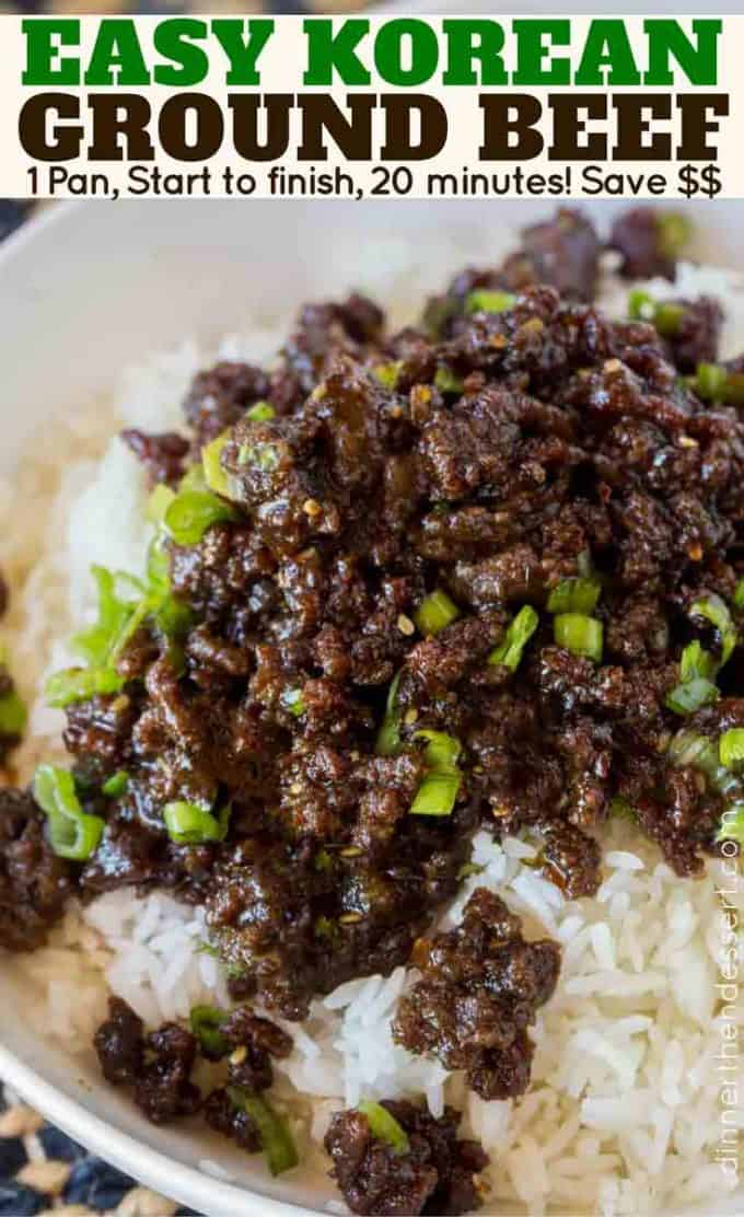 Korean ground beef dinner then dessert the easiest least expensive version of takeout you can make at home and with ground forumfinder Images