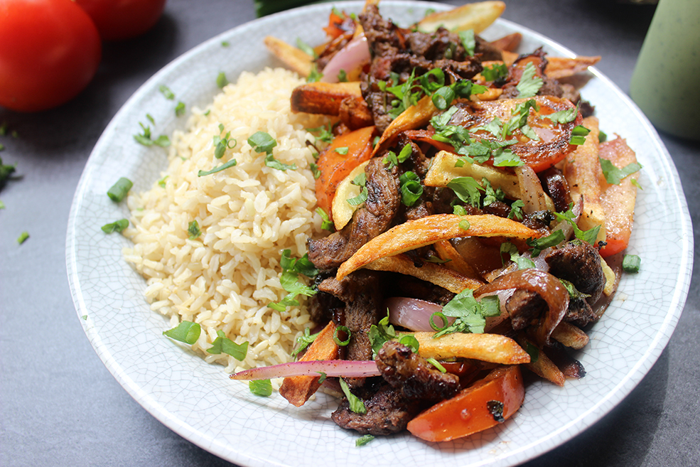 El pollo inkas peruvian lomo saltado copycat dinner then dessert el pollo inkas most popular entree lomo saltado is sliced steak onions forumfinder Image collections