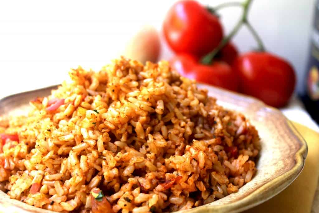 Mexican Rice Closeup