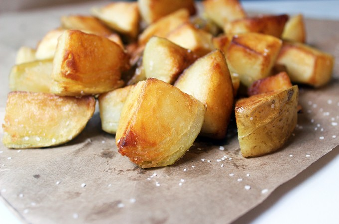 Crispy Pan Fried Salt & Vinegar Potatoes
