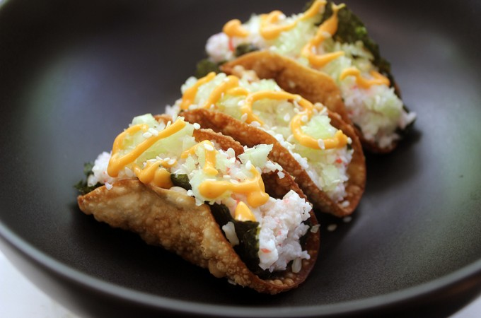Crispy California Roll Tacos