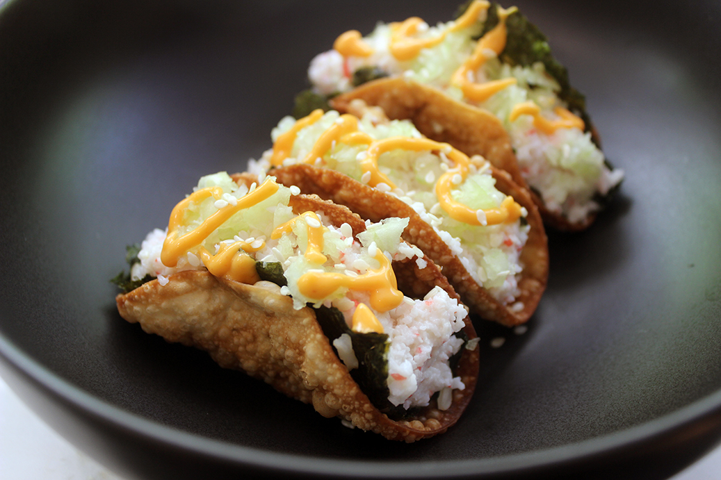 Crispy California Roll Tacos - Dinner, then Dessert