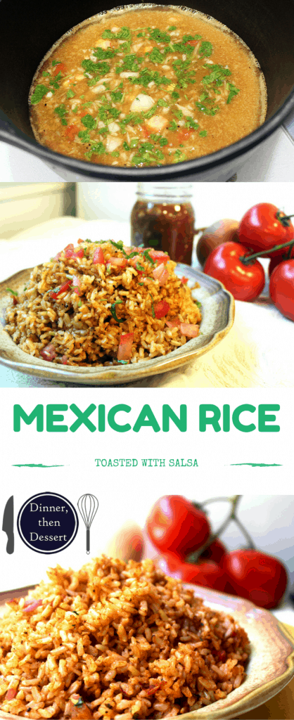 Restaurant quality rice made with stock and prepared salsa. Easy and delicious!