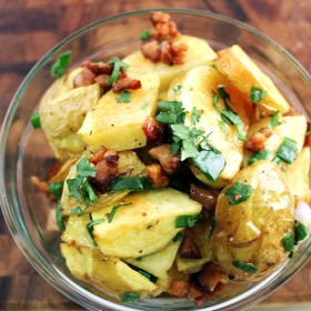 Yukon Gold and Green Onion Potato Salad with Bacon Vinaigrette