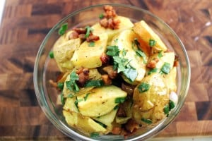 Yukon Gold and Green Onion Potato Salad with Bacon Vinaigrette