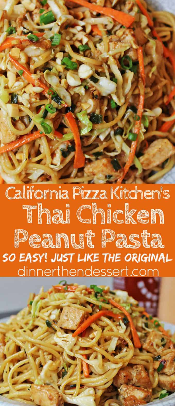 CPK Thai Peanut Chicken Pasta - Dinner, then Dessert