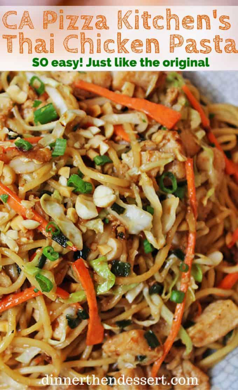 Thai Chicken Pasta California Pizza Kitchen