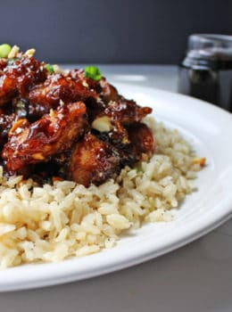 Spicy, sweet, crispy & crunchy, this dish is everything you could hope for and more in a chicken dish. Straight from the restaurant's menu, this is a really spicy Mandarin-Style chicken dish with scallions and roasted cashews.