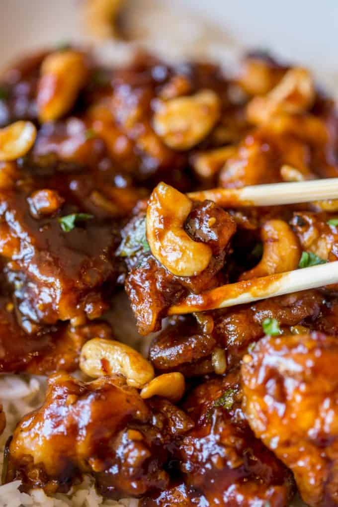 The perfect Cheesecake Factory's Spicy Cashew Chicken copycat recipe you can make at home!
