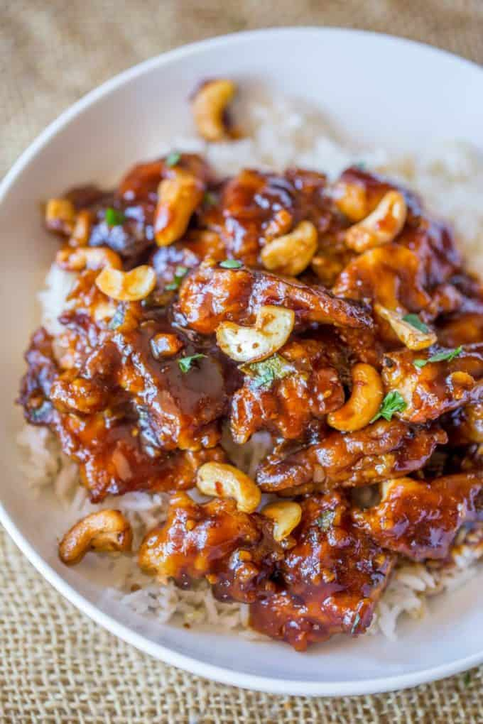 Cheesecake Factory's Spicy Cashew Chicken is spicy, sweet, crispy & crunchy, this dish is everything you could hope for and more in a copycat Chinese food recipe!