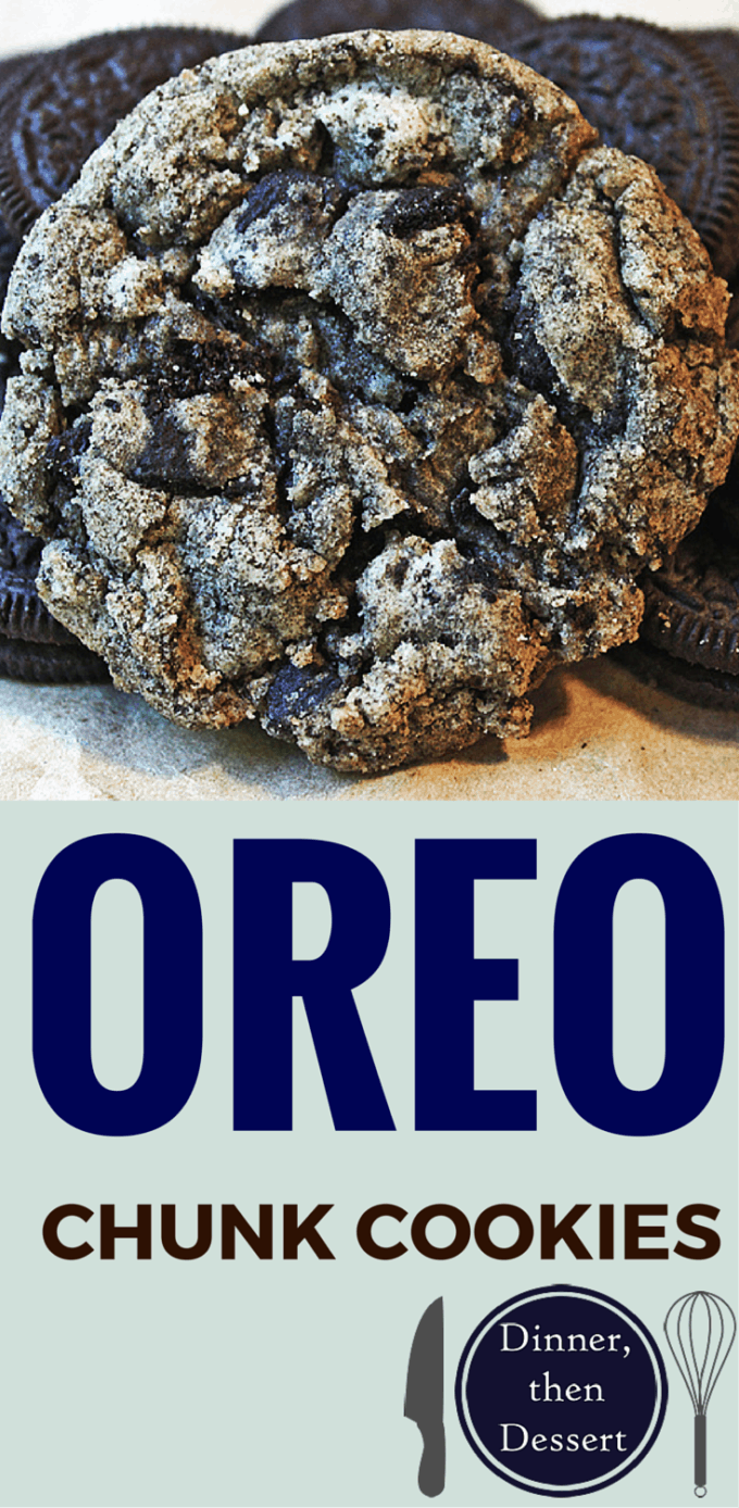 Oreo Chunk Cookies collage