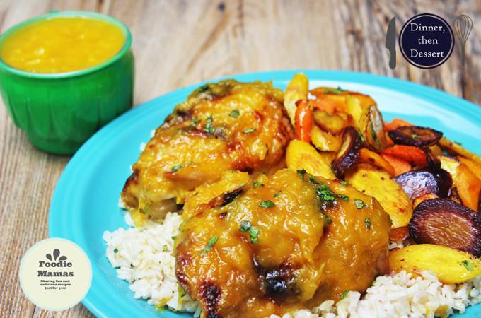 Mango Habanero Preserve Chicken #FoodieMamas & Mangoes!