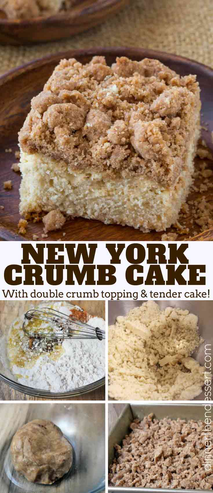 New York Crumb Cake Collage