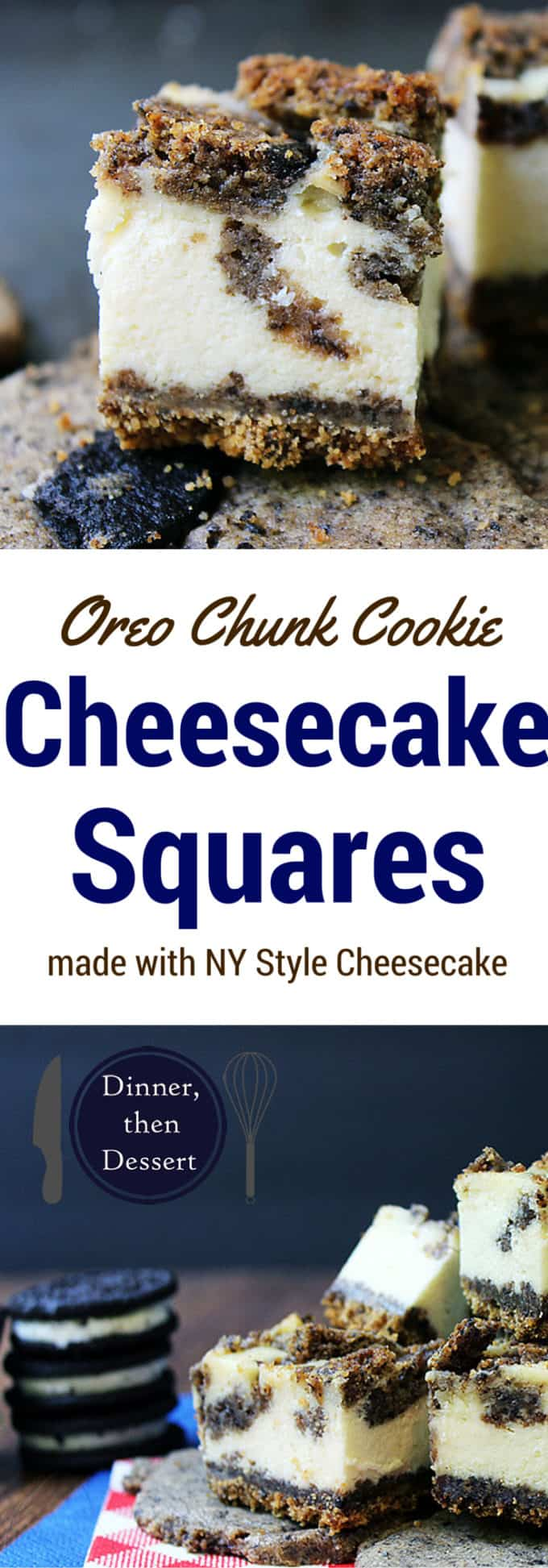 Made with Oreo Chunk Cookies. Buttery Rich cookies with NY Style Cheesecake filling. Heaven in a bite!