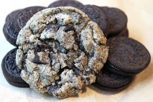 Chewy & Crispy Oreo Chunk Cookies made with Oreo crumbs and Oreo chunks! The best of an Oreo cookie and sugar cookie combined!