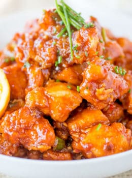P.F. Chang's Orange Peel Chicken is crispy, spicy and sweet, with notes of orange flavor and even healthier than the restaurant version!