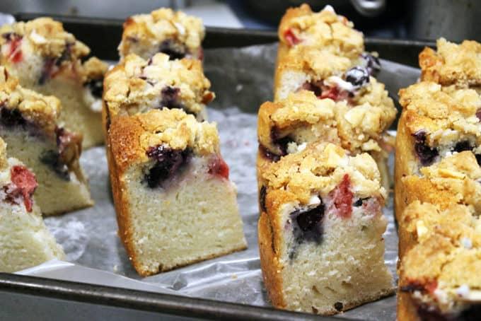 Triple Berry Sour Cream Crumb Cake