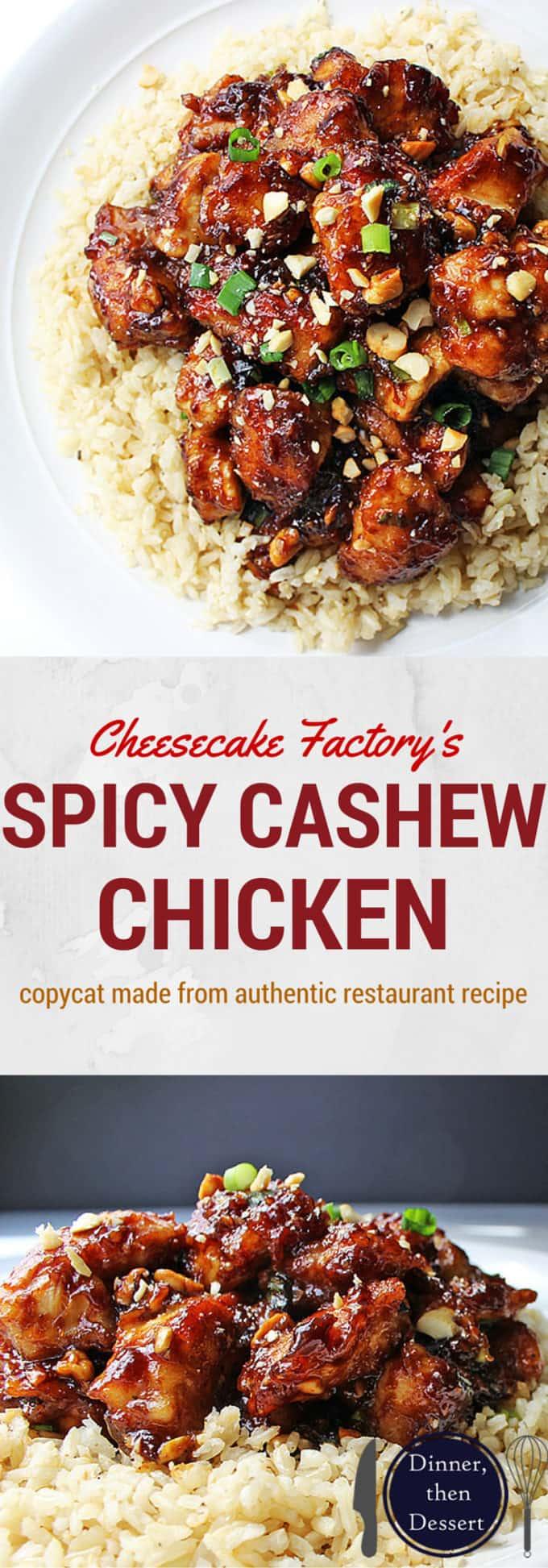 Cheesecake Factory S Spicy Cashew Chicken Dinner Then Dessert