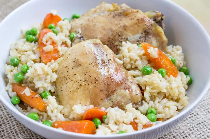Baked Chicken Brown Rice Vegetable Casserole