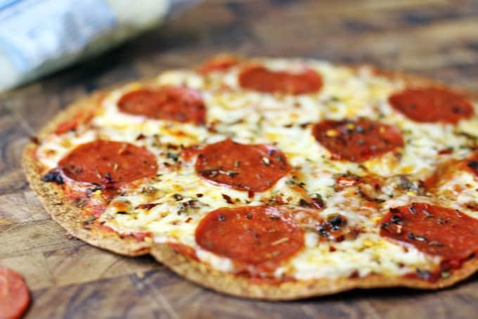 Tortilla Pepperoni Pizza Dinner Then Dessert