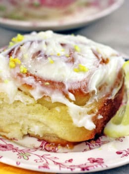 Lemon Curd Sticky Rolls are a delicious variation of a cinnamon roll with a soft, buttery dough filled with lemon curd and a lemony butter-sugar mixture, they are glazed with cream cheese frosting.