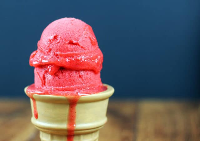 The most perfect, simple, 3 ingredient strawberry sorbet. Sweet, refreshing, tart and creamy, this recipe will not disappoint you and will keep you from ever buying it again.