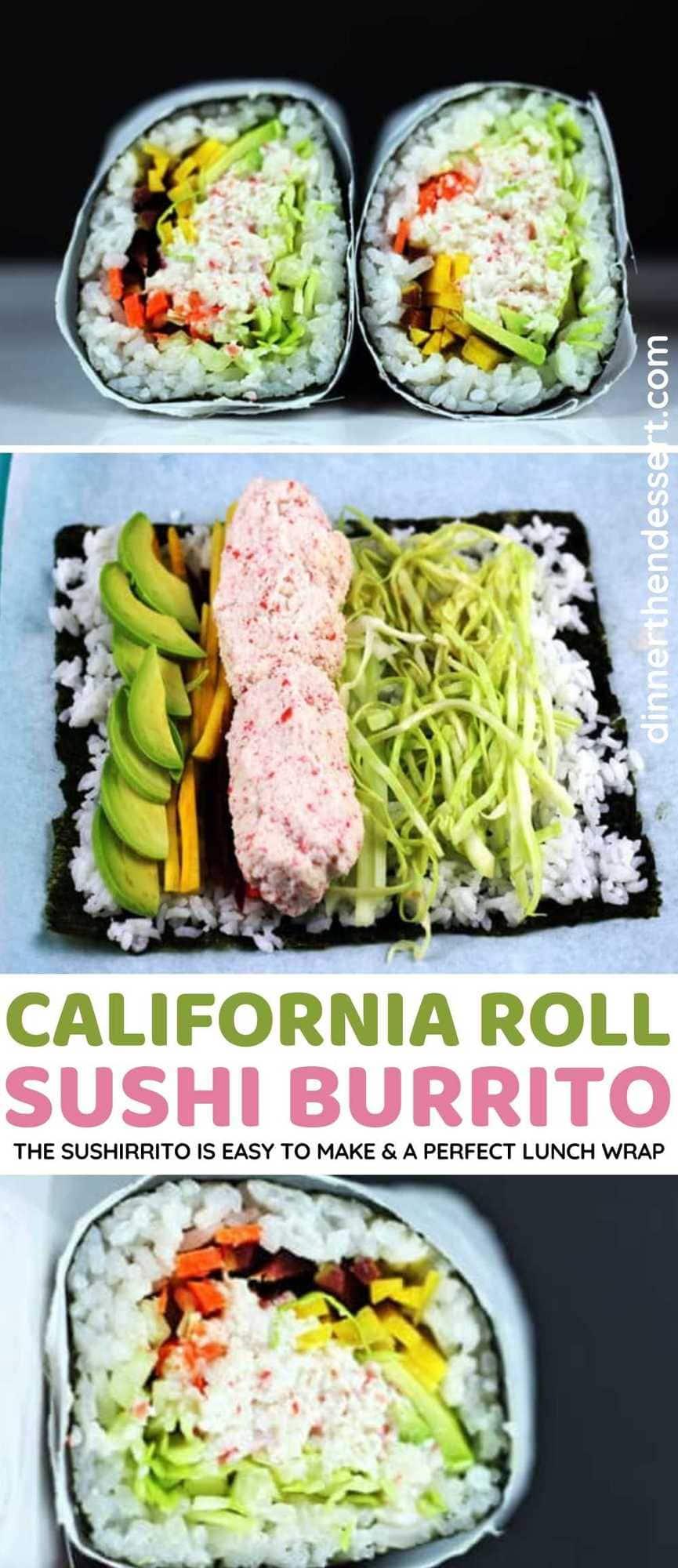 Sushi Burrito collage