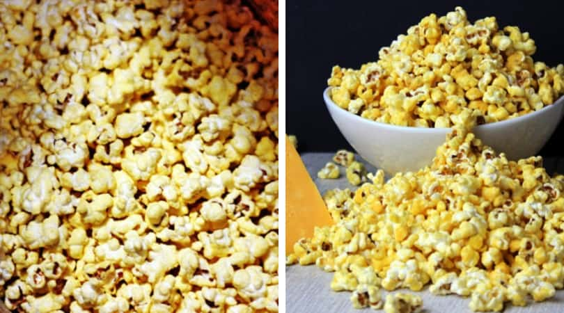 5 Minute Microwave Cheddar Cheese Popcorn (Perfect for Movie