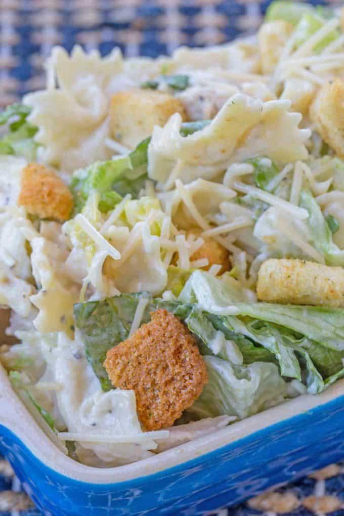 Easy Pasta Salad with Caesar Dressing
