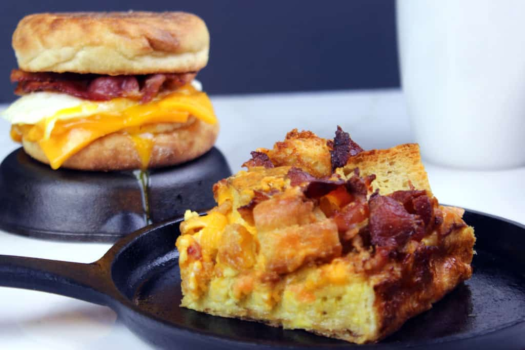 baked egg casserole that tastes like an egg McMuffin