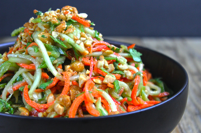 5 Minute Crunchy Asian Lime-Peanut Slaw