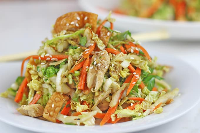 Light Crispy Chinese Chicken Salad - Dinner, then Dessert