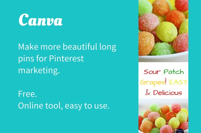 Making & Hiding Long Pins for Pinterest using Canva