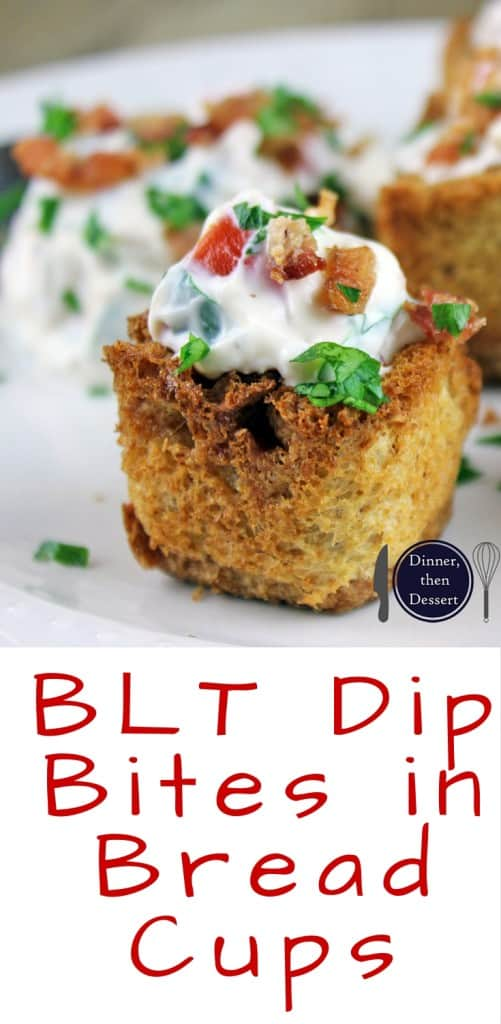 BLT Dip Bites in Bread Cups Small