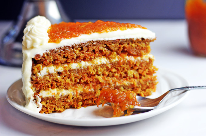 Ultimate Carrot Cake with Carrot Cake Jam Filling!
