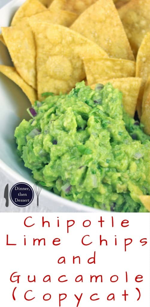You've had the Barbacoa Beef Burrito, now you can enjoy the Chips and Guacamole that go with it! Salty Lime Tortilla Chips just like you love at Chipotle served with their authentic guacamole. You'll never want premade chips or dip again!
